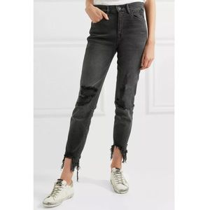 3x1 W3 Authentic Straight Leg Crop High Rise Jeans